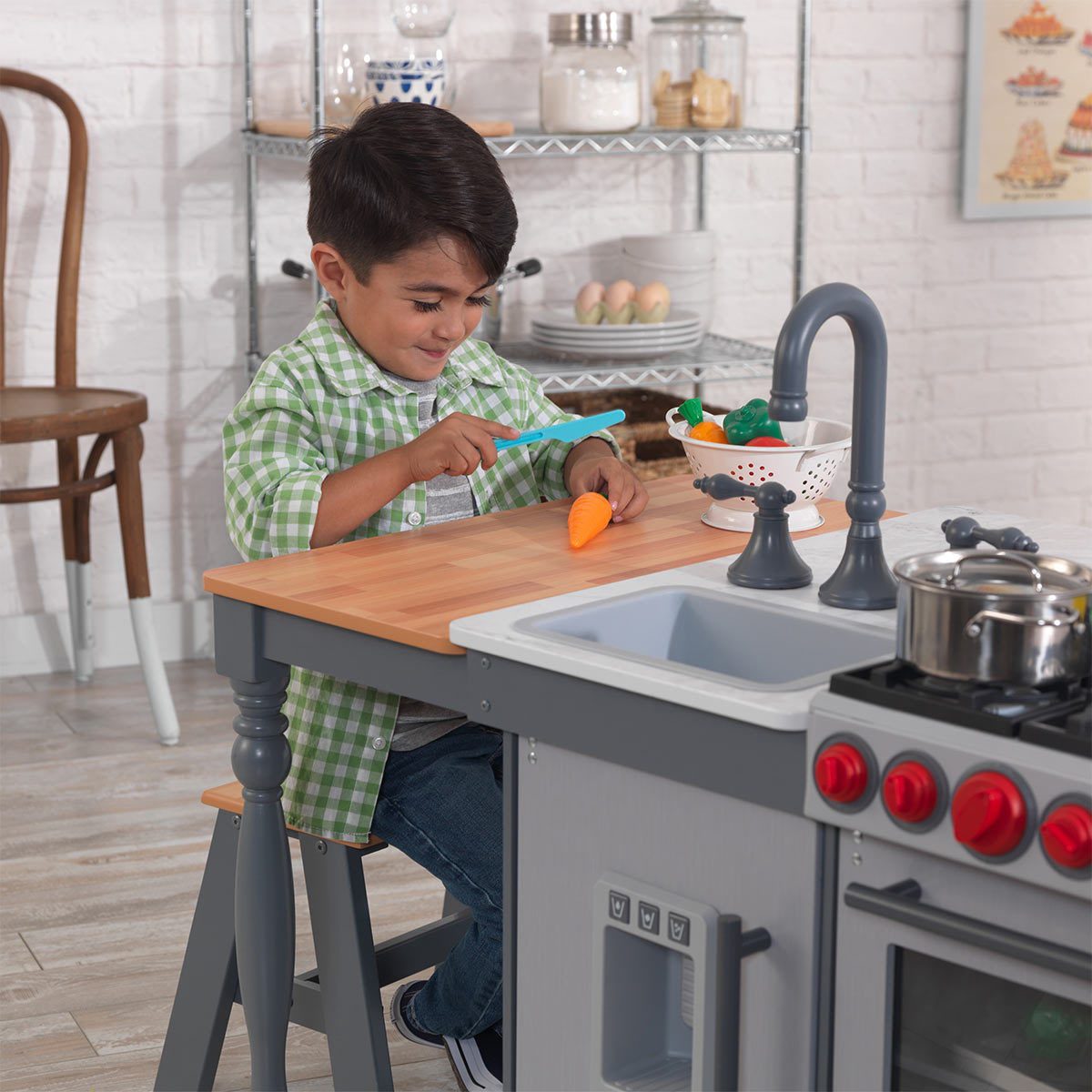 KidKraft Chef's Cook 'N' Create Island Kitchen With EZ Kraft Assembly (3+ Years)